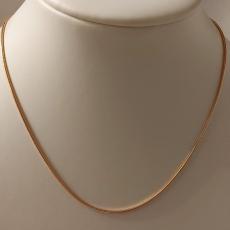 Schlangenhalskette 925/-Silber Rose Gold Länge 42cm