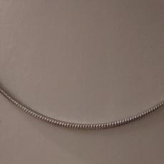 Schlangenhalskette 925/-Silber rhodiniert Länge 42cm