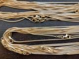 Schlangenkette 925/- Silber vergoldet Länge 40cm