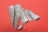 Ring für Damen 925/- Silber Zirkonia Steine